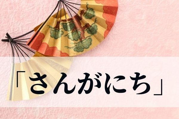 「さんがにち」の正しい漢字は?